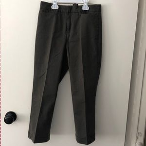 Olive crop dress pants- GAP